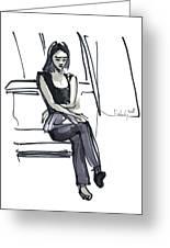 Girl Near The Window Greeting Card