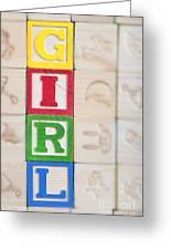 Girl Greeting Card