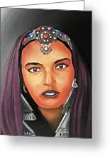 Girl Of Morocco Greeting Card