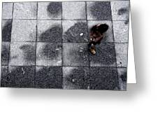 Girl On A Grid Greeting Card