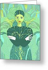 Girl Planted Greeting Card