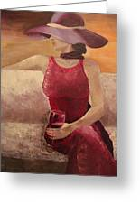 Girl With A Glass Greeting Card