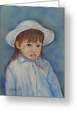 Girl With A Hat Greeting Card