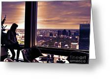 Girl With A View Greeting Card