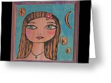 Girl With Cross Greeting Card