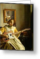 Girl With Guitar Greeting Card