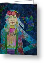 Girl With Kaleidoscope Eyes Greeting Card