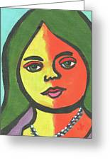 Girl With Necklace Greeting Card