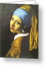 Girl With Pearl Earring Greeting Card