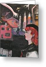 Girl With The Black Beret Greeting Card