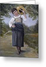 Girl With Water Jug Greeting Card