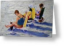 Girls Day At  The Beach Greeting Card