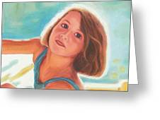 Girl's Portrait Greeting Card