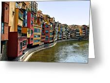 Girona Riverfront Greeting Card