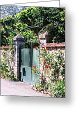 Giverny Gate Greeting Card