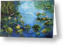 Giverny Lily Pond Greeting Card