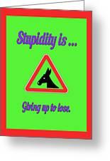 Giving Up Bigstock Donkey 171252860 Greeting Card