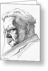 Gk Chesterton Greeting Card