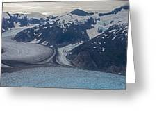 Glacial Curves Greeting Card