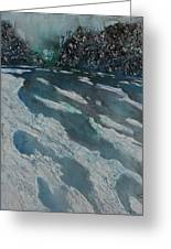 Glacial Moraine Greeting Card