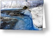 Glacial Stream Greeting Card