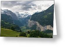 Glacial Valley Greeting Card