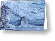 Glacial Waterfall Greeting Card