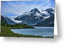 Glacier Alaska Lake  Greeting Card