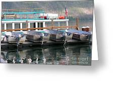 Glacier Boating Greeting Card