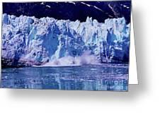 Glacier - Calving - Reflection Greeting Card