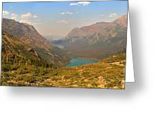 Glacier Chain Of Lakes Greeting Card