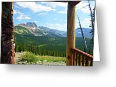 Glacier Chalet View Greeting Card