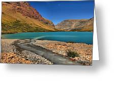 Glacier Cracker Lake Greeting Card