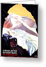 Glacier De Bionnassay, Railway, France Greeting Card