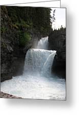 Glacier Falls Greeting Card