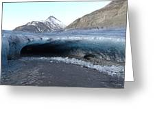 Iceland - Glacier Ice Cave 'entrance' #1 Greeting Card