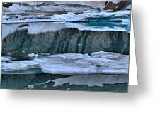 Glacier Iceberg Panorama Greeting Card