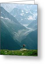 Glacier In Chamonix Greeting Card