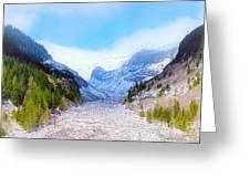 A Glacier In Mt. Rainier Greeting Card