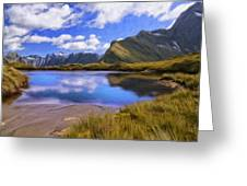 Glacier Lake On The Milford Track Greeting Card
