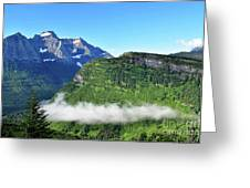 Glacier Mountain Above The Fog Greeting Card