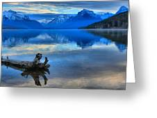 Glacier Mountain Reflections Greeting Card