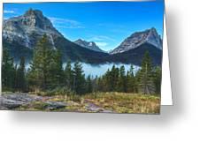 Glacier Mountains Greeting Card by Stuart Deacon