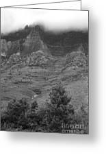 Glacier National Park Montana Vertical Greeting Card