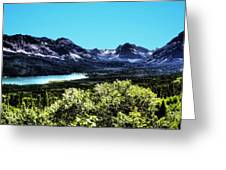 Glacier National Park Views Panorama No. 01 Greeting Card