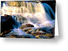 Glacier National Park Waterfall Greeting Card