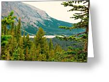 Glacier Np View Greeting Card