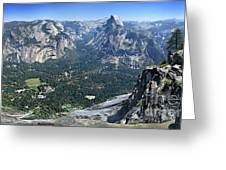 Glacier Point Panorama - Yosemite Valley Greeting Card