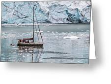Glacier Sailing Greeting Card