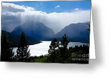Glacier Showers Greeting Card